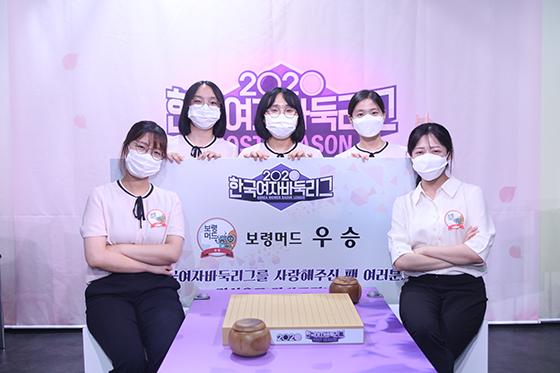 ▲우승팀 보령 머드 선수단